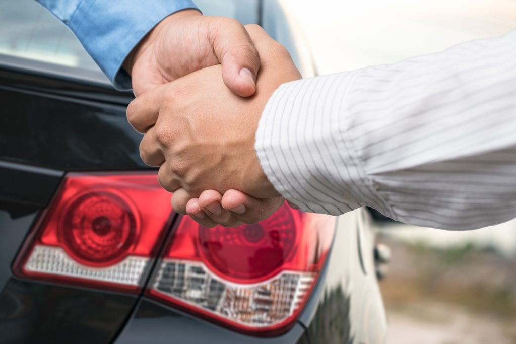 Agreeing the deal on a car